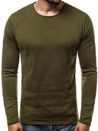 Zelený pánský svetr OZONEE B/2097 - L