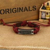 Dream náramek v bordó-hnědém provedení