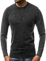 Pohodlný tmavě šedý svetr OZONEE BL/5611 - XL