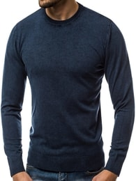 Pohodlný tmavě modrý svetr OZONEE BL/5611 - XL