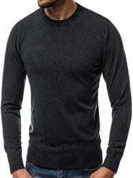 Pohodlný černý svetr OZONEE BL/5611 - XL
