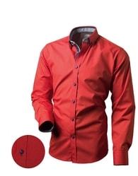 Victorio Červená pánská moderní košile V161