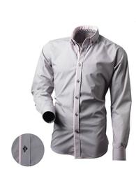 Victorio Trendy košile s dlouhým rukávem a růžovými doplňky V162