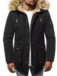 Stylová černá bunda na zimu OZONEE JB/1072