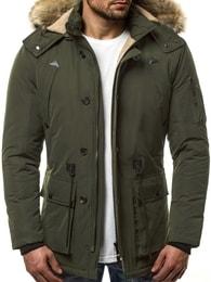 Zimní zelená bunda OZONEE JB/1071 - XXL