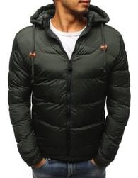 Dstreet Jedinečná zimní zelená bunda - XXL