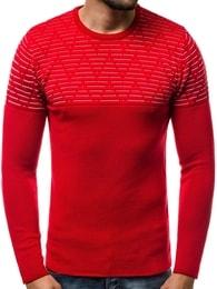 Zajímavý pánský svetr červený OZONEE B/3005 - XL