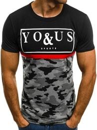 Černé módní tričko You&Us JS/5021T