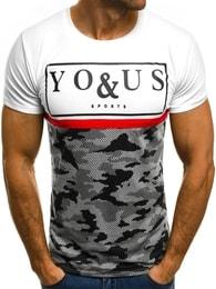 Bílé moderní tričko You&Us JS/5021T