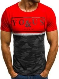 Červené tričko You&Us JS/5021T