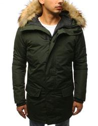 Dstreet Stylová zelená zimní bunda - XXL