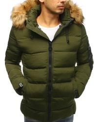 Dstreet Jednoduchá zimní zelená bunda - XXL