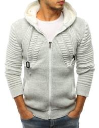Dstreet Hřejivý ecru svetr s kapucí - L