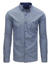 Dstreet Bílá kostkovaná košile s kapsou af71de8ea5
