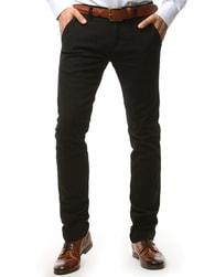 Dstreet Fantastické elegantní černé chinos nohavice - 33