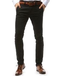 Dstreet Klasické černé chinos kalhoty