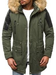 J. Style Zelená pánská zimní bunda OZONEE O/88830 - XXL