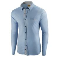 3b04c54d043 Seraphstore.com Atraktivní nebesky modrá pánská košile - XXXL