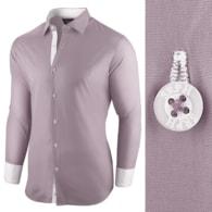 Seraphstore.com Zajímavá šedá pánská košile s dlouhým rukávem