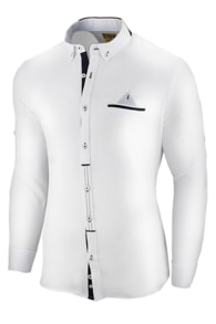 Seraphstore.com Moderní ležérní bílá košile slim fit střihu f954eac3ce