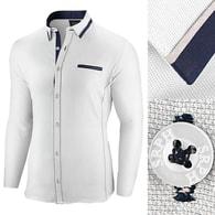 448642e7266 Seraphstore.com Bílá slim fit pánská košile s dlouhým rukávem