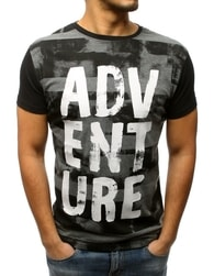 94a7c795486 Dstreet Černé tričko ADVENTURE - L