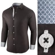 Seraphstore.com Černá bavlněná pánská košile Essential Life