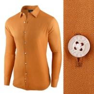Seraphstore.com Camelová pánská košile s dlouhým rukávem