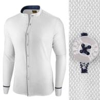 Seraphstore.com Bílá slim fit košile Neo Elegance - L