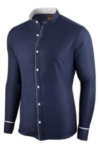Seraphstore.com Tmavě modrá pánská košile Neo Elegance