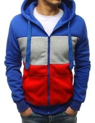 Dstreet Fantastická modrá mikina s kapucí - M