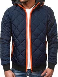 J. Style Prošívaná zimní tmavě modrá bunda OZONEE JS TY09 - M 2682a7d9bee