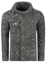 Tmavě šedý pánský svetr (wx0721)